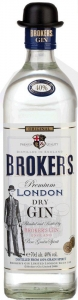 Brokers dry Gin 40% vol. Premium London Dry Gin Brokers