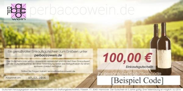 Geschenkgutschein über 100€ Perbaccowein
