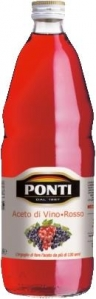 Ponti Aceto Di Vino Rosso (Rotweinessig) (1,0l) Ponti